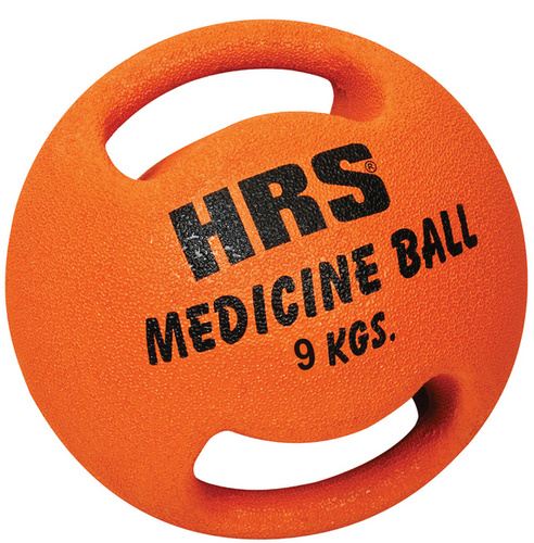 Rubberised Medicine Balls (Double Handle)
